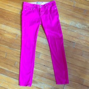 Paige Jeans Peg Skinny style pink Pants size 27